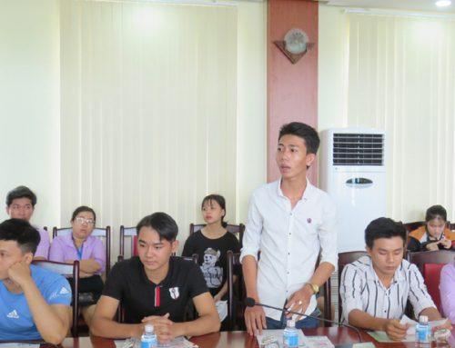 Trường cao đẳng Công Thương Miền Trung: Đưa thông tin du học – xuất khẩu lao động đến sinh viên